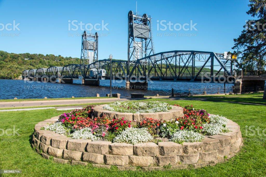 Stillwater lift bridge, MN stock photo