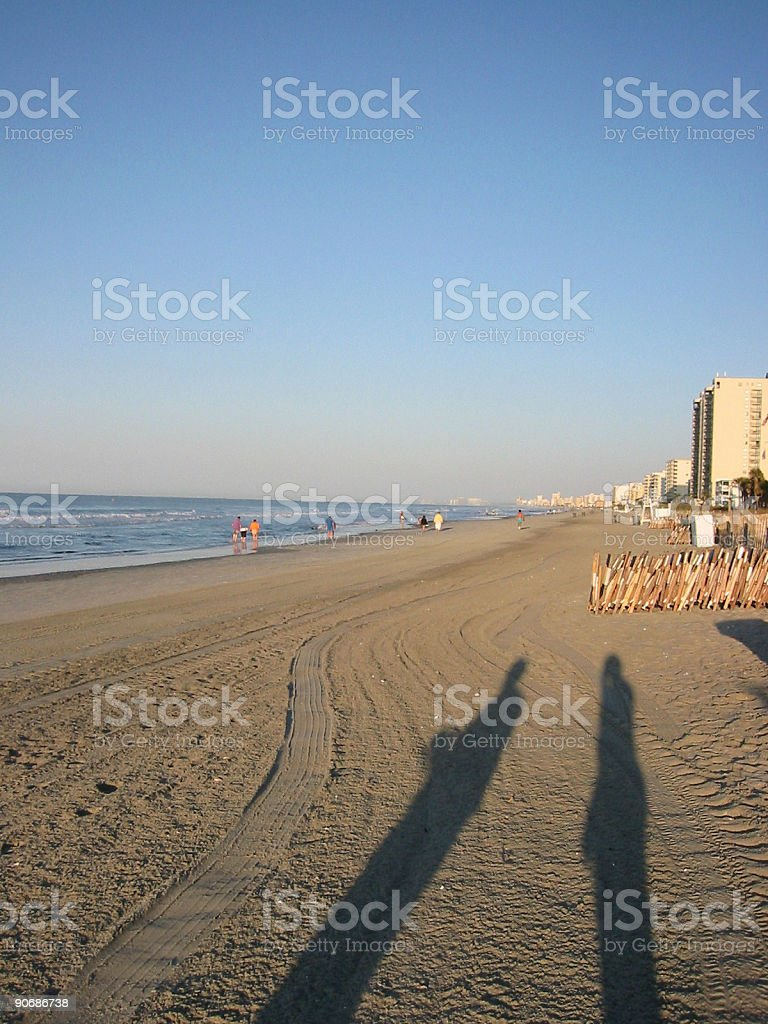 Stilt people shadows royalty-free stock photo