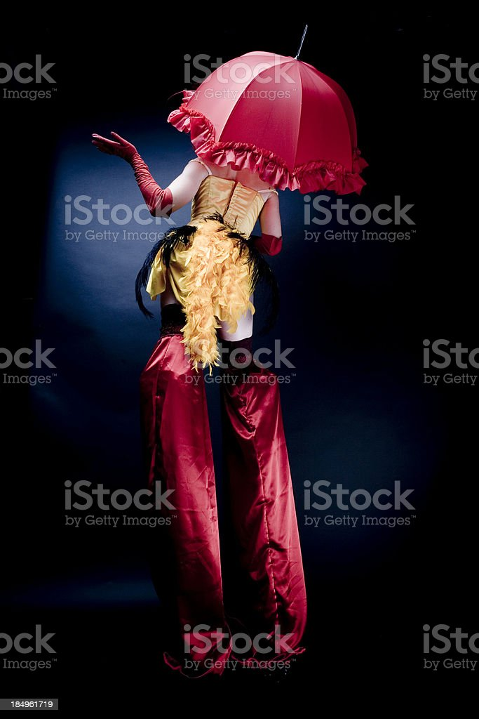 Stilt Walker Chic stock photo