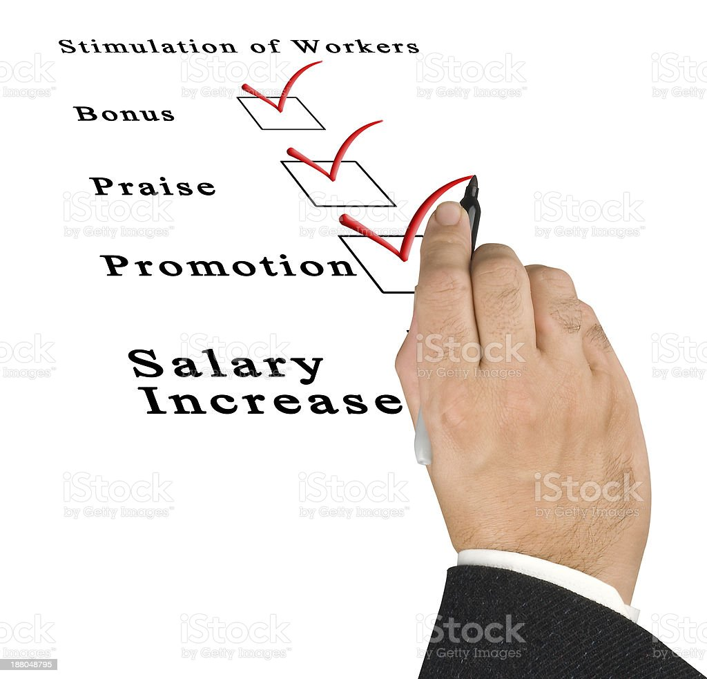 Stimulation of workers stock photo