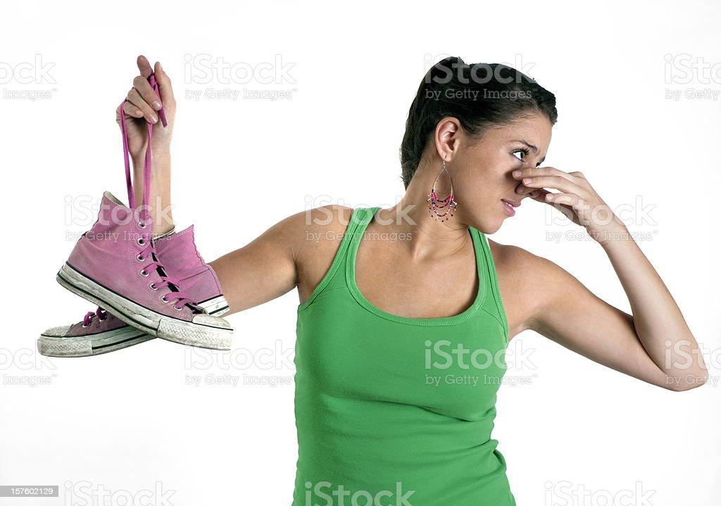 stinking shoes royalty-free stock photo