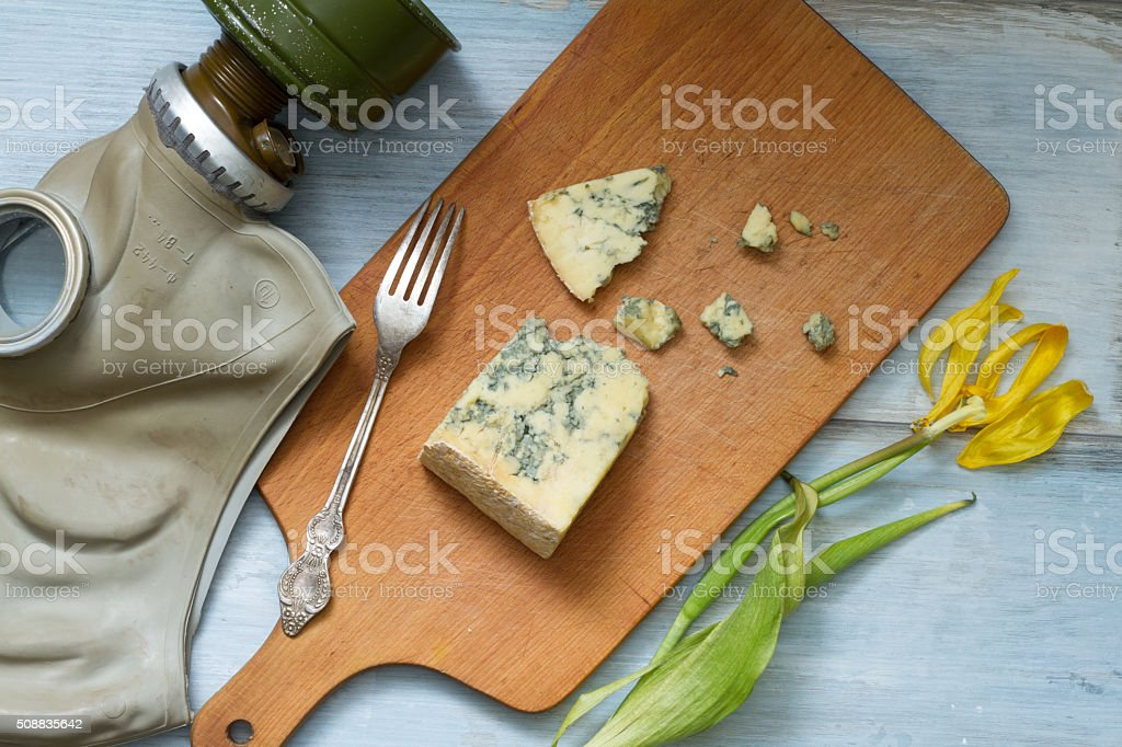 stinky cheese and gas mask funny abstract of food stock photo more
