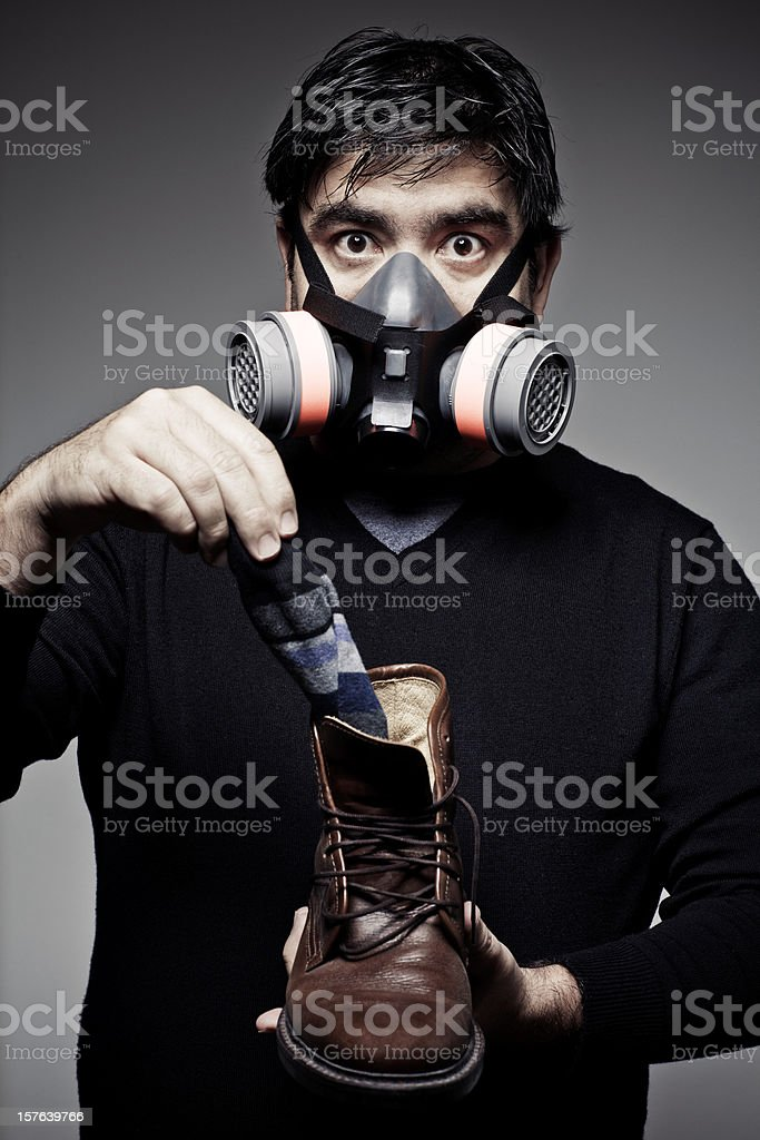 Stinky Shoes stock photo