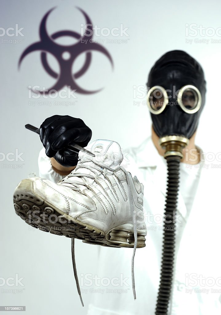 Stinky sneaker royalty-free stock photo