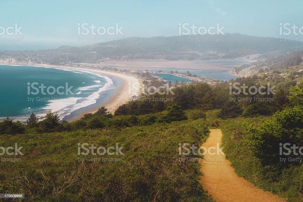 Stinson Beach in Northern California stock photo