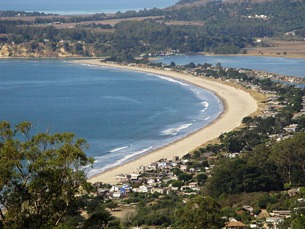 stinson beach town marin county - oceano pacifico occidentale foto e immagini stock