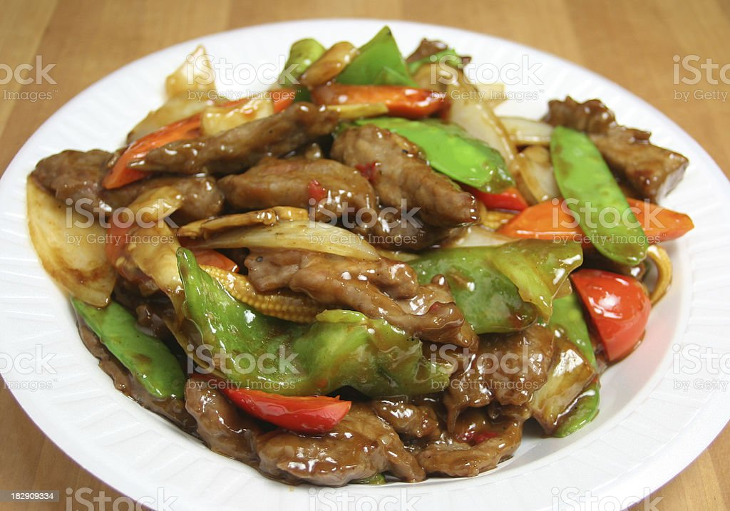 Stir Fried Beef royalty-free stock photo