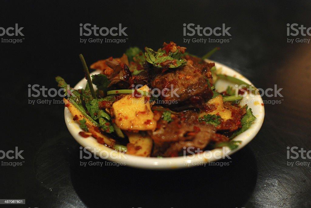 Stir fried beef stock photo
