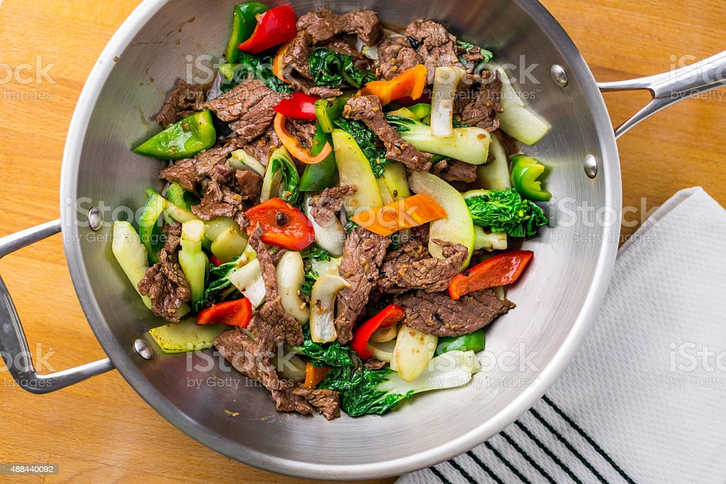Stir Fried Beef & Vegetable stock photo