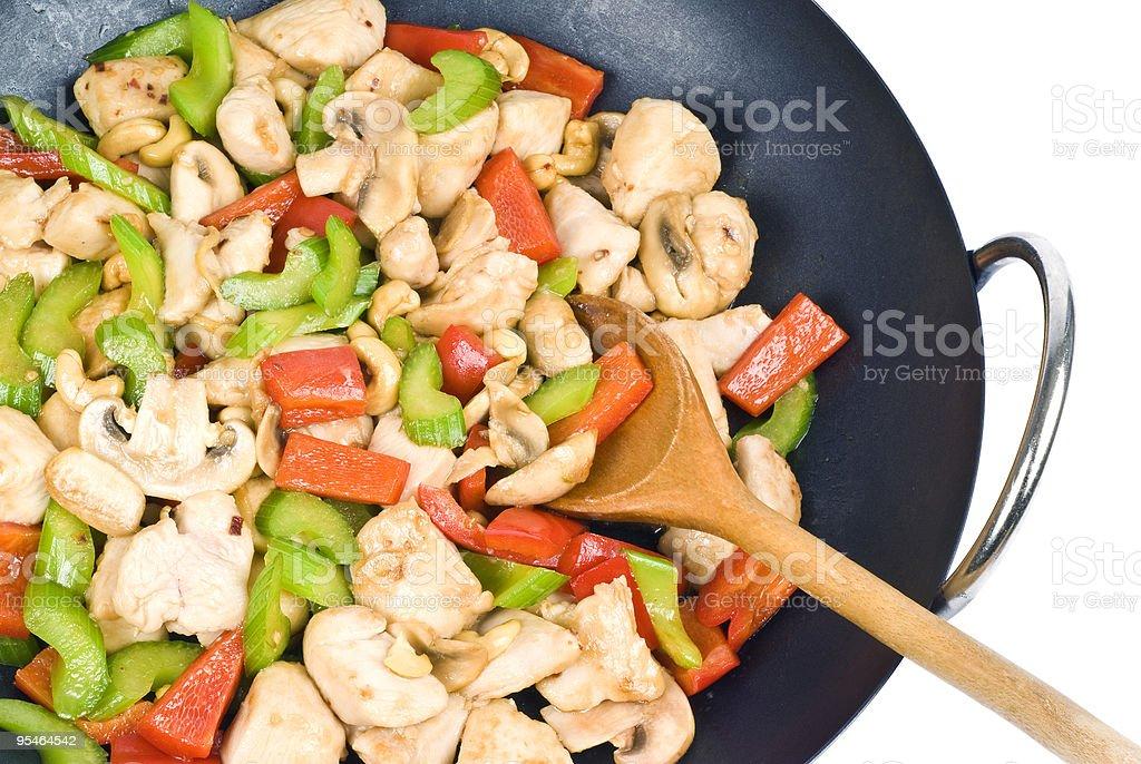 Stir Fried Cashew Chicken royalty-free stock photo