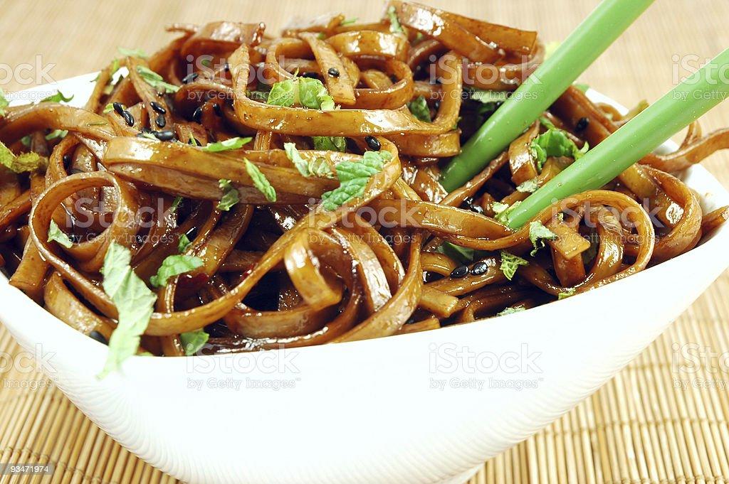 Stir Fried Udon royalty-free stock photo