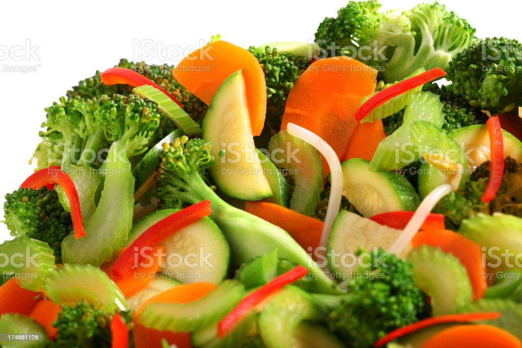 stir fried vegetables stock photo