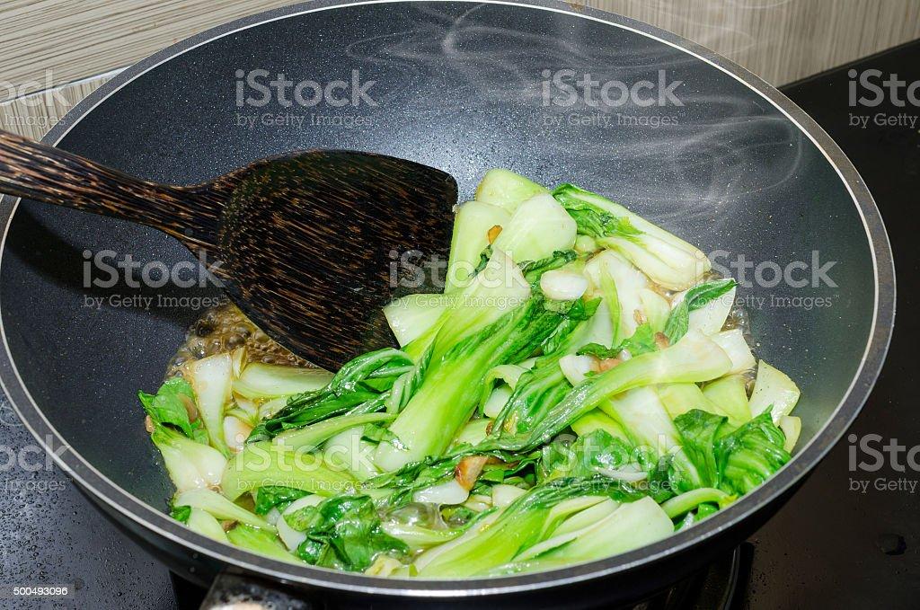 stir fried vegetables stock photo