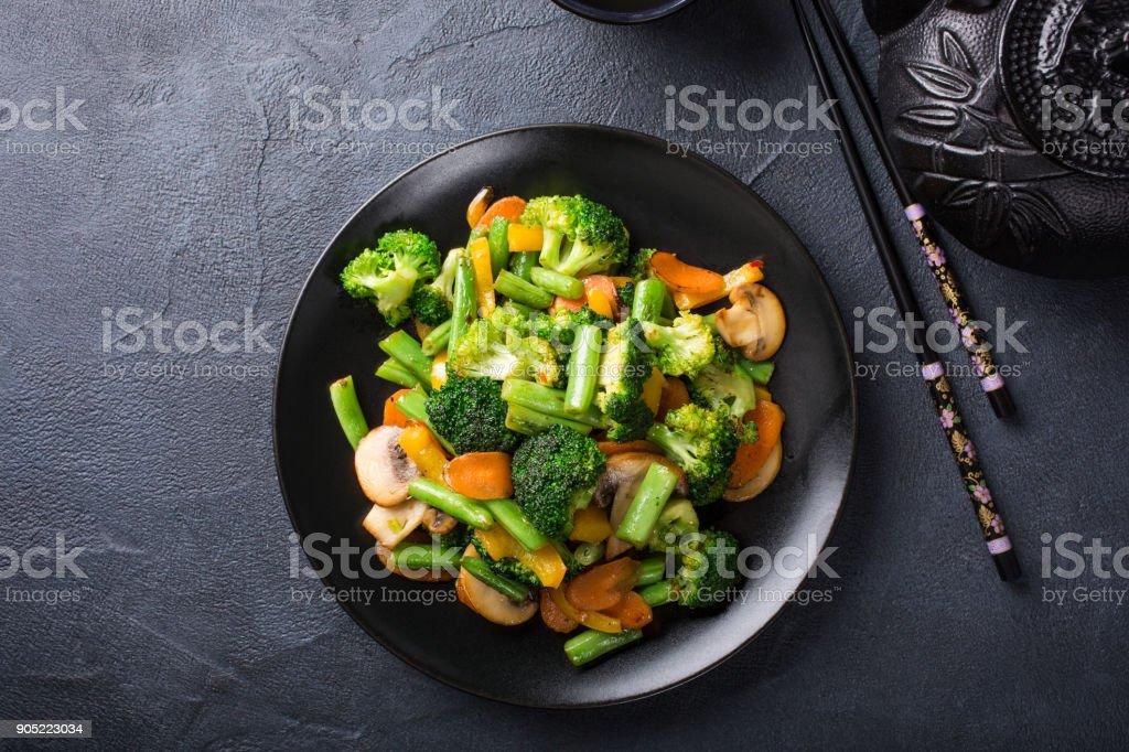 Agite frito verduras - foto de stock