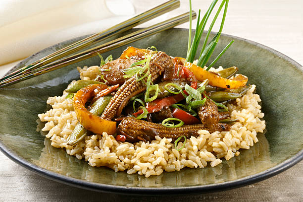 Stir Fry Beef and Vegetables stock photo
