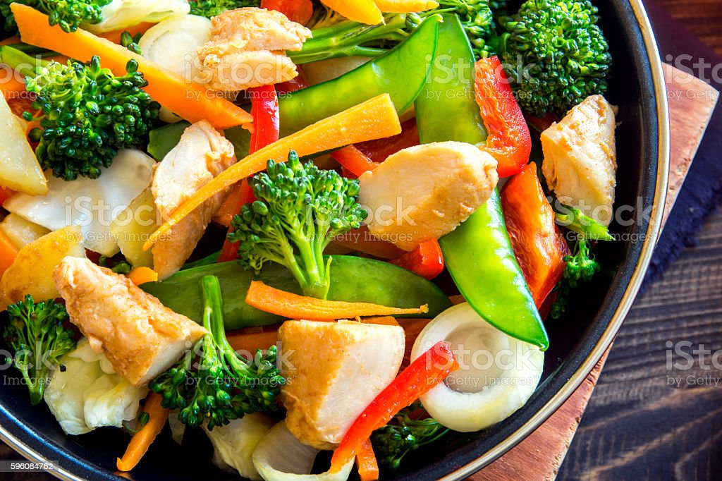 stir fry with chicken royalty-free stock photo
