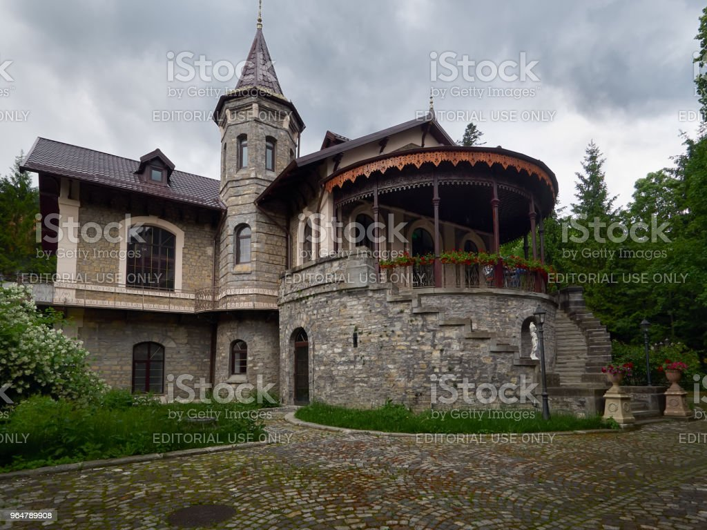 Stirbey Castle in Sinaia, Romania stock photo