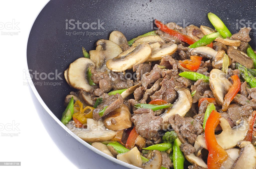 Stir-Fried Beef with Vegetables royalty-free stock photo