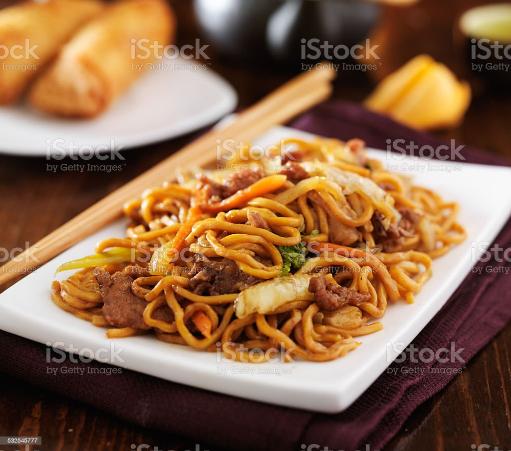 stirfried chinese beef lo mei stock photo