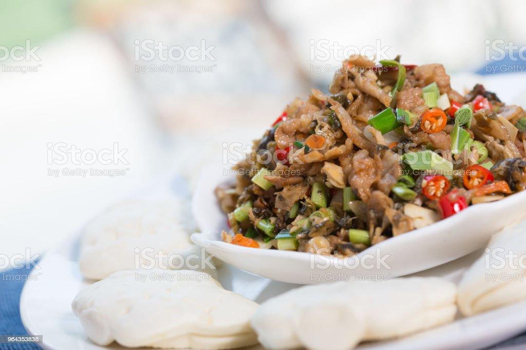 Refogado de carne - Foto de stock de Alho royalty-free
