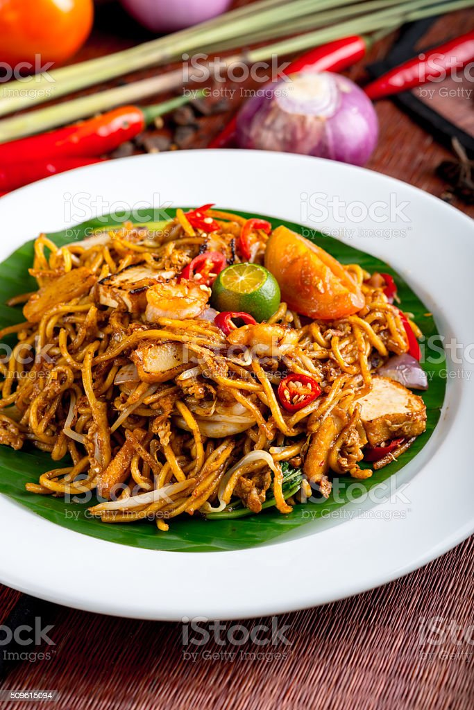 Stir-fried noodle stock photo