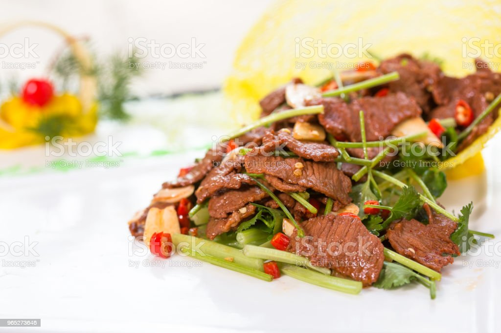 stir-fried pork slices zbiór zdjęć royalty-free