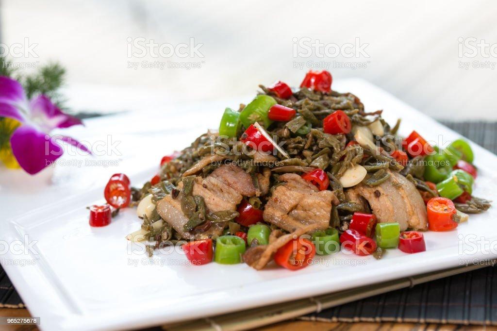 stir-fried pork slices zbiór zdjęć royalty-free