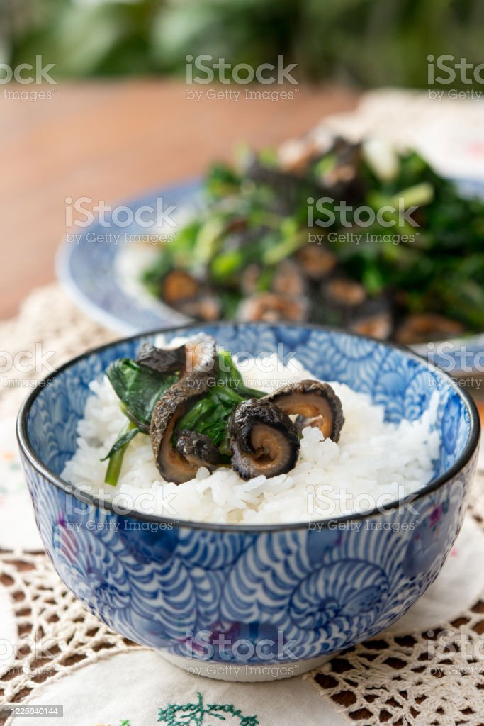Stirfried Sea Cucumber With Rice In Asian Serving Bowl Stock Photo Download Image Now Istock