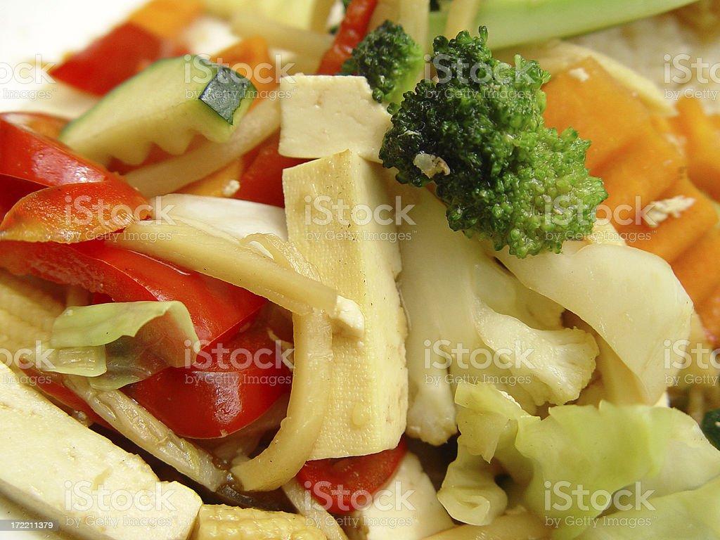 Stir-fried tofu royalty-free stock photo