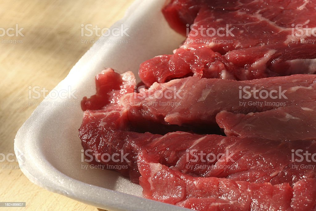 Stir-Fry Beef Round stock photo