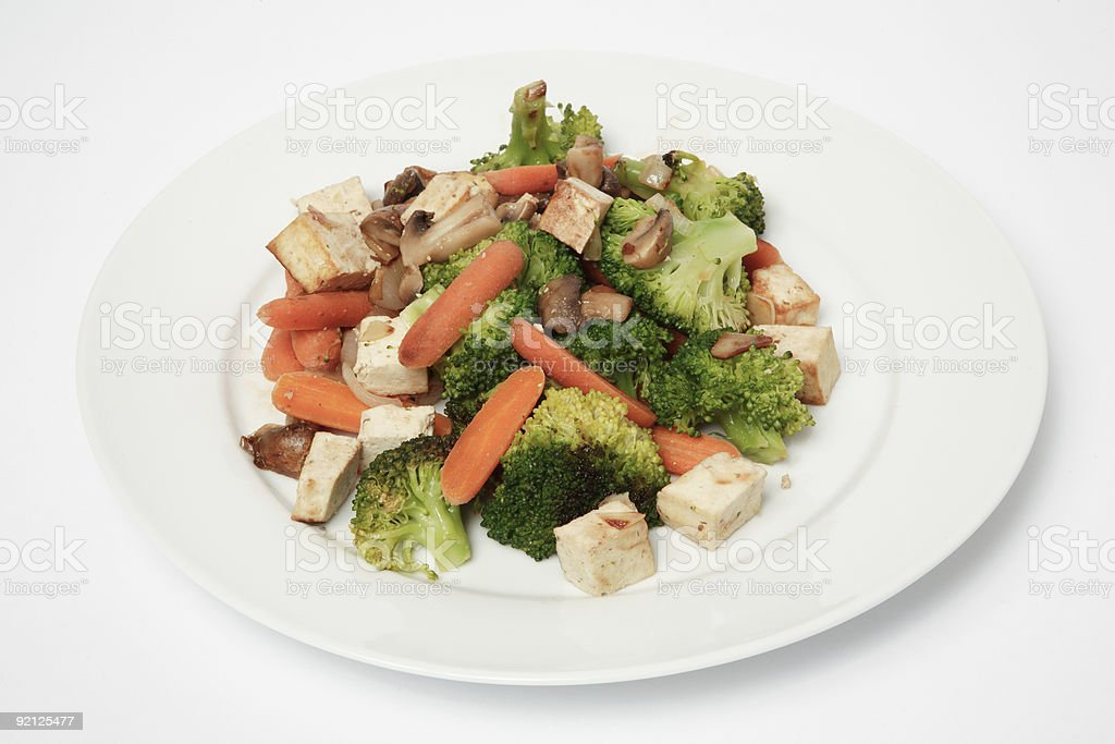 Stir-Fry Meal stock photo
