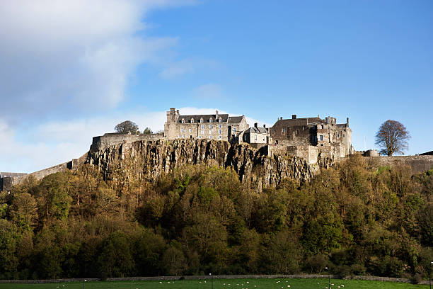 Stirling Castle The west face of Stirling Castle. theasis stock pictures, royalty-free photos & images