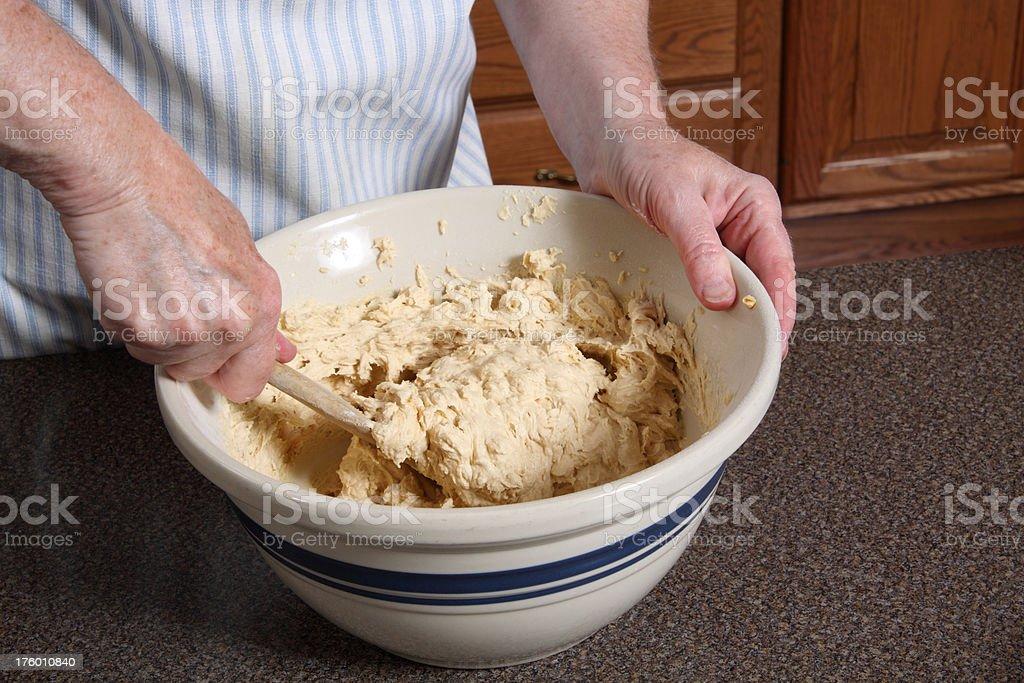 Stirring Cookie Dough royalty-free stock photo