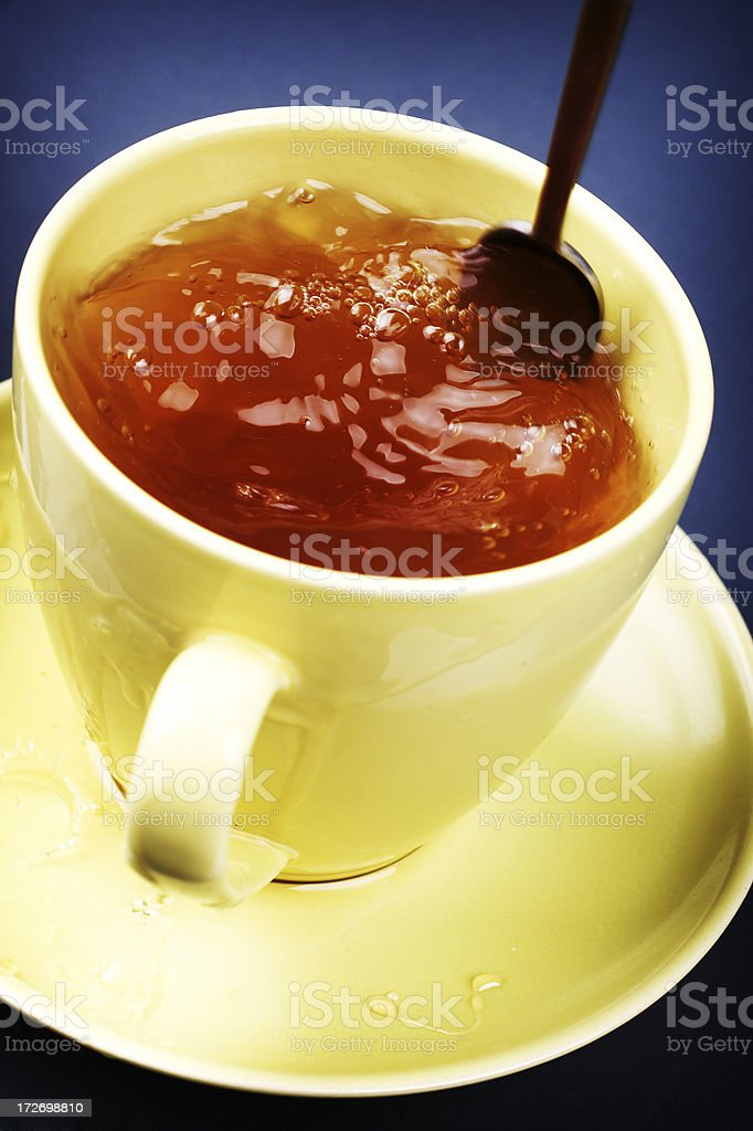 stirring tea royalty-free stock photo