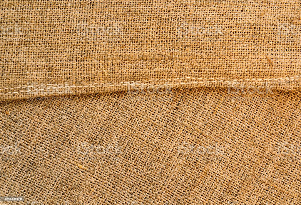 Stitched rough canvas royalty-free stock photo