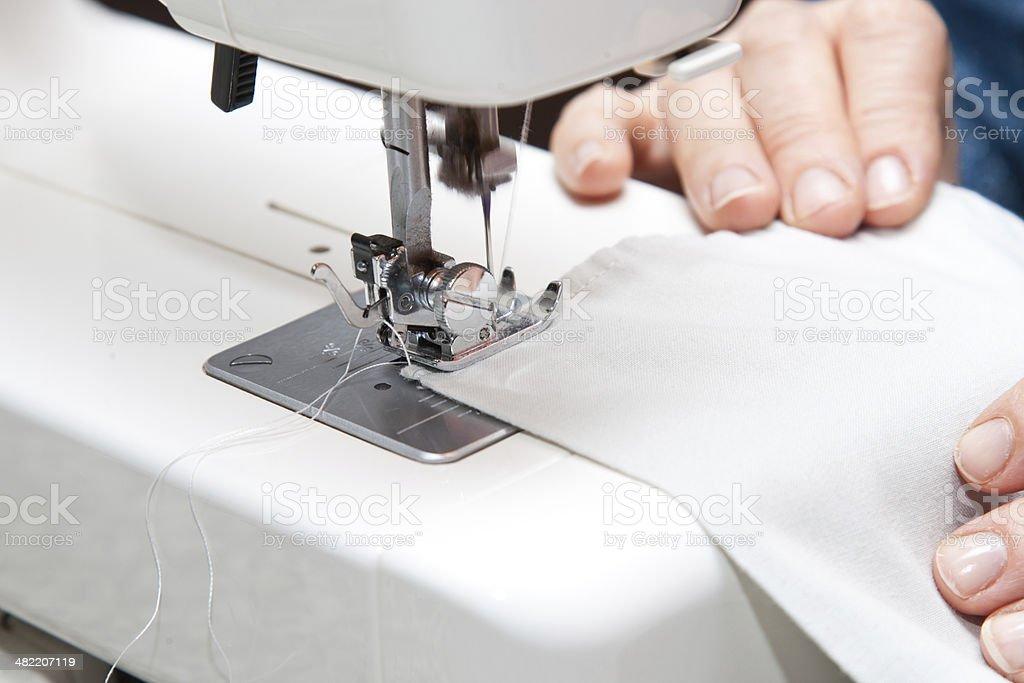 Stitching machine stock photo