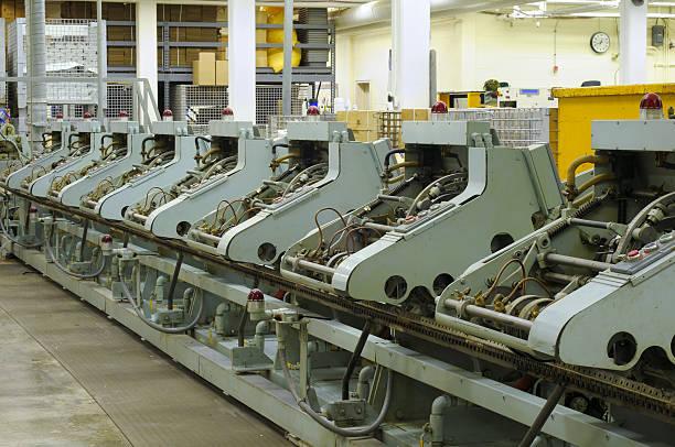 Stitching machines stock photo