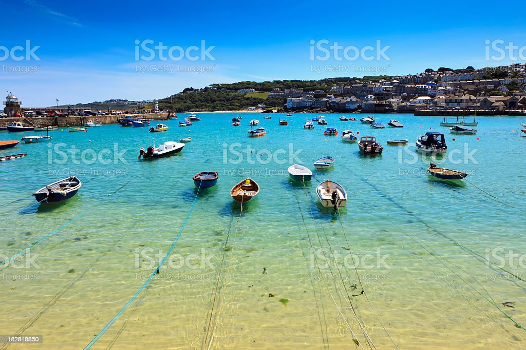 St.Ives harbor stock photo