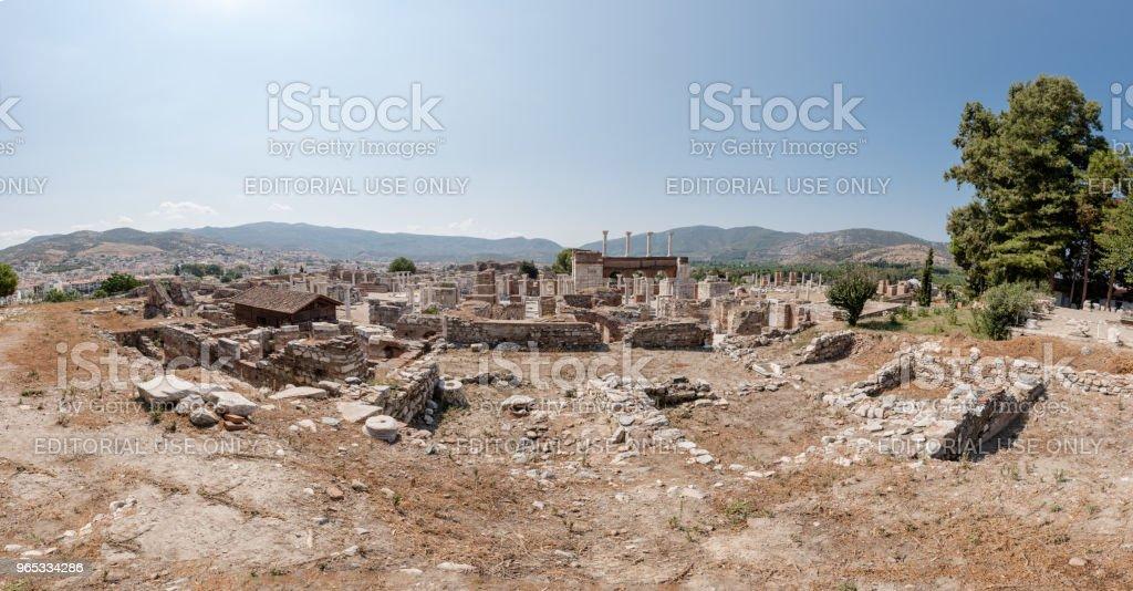 St.John Basilica at Ayasuluk Hill in Ephesus Selcuk,Izmir,Turkey. royalty-free stock photo