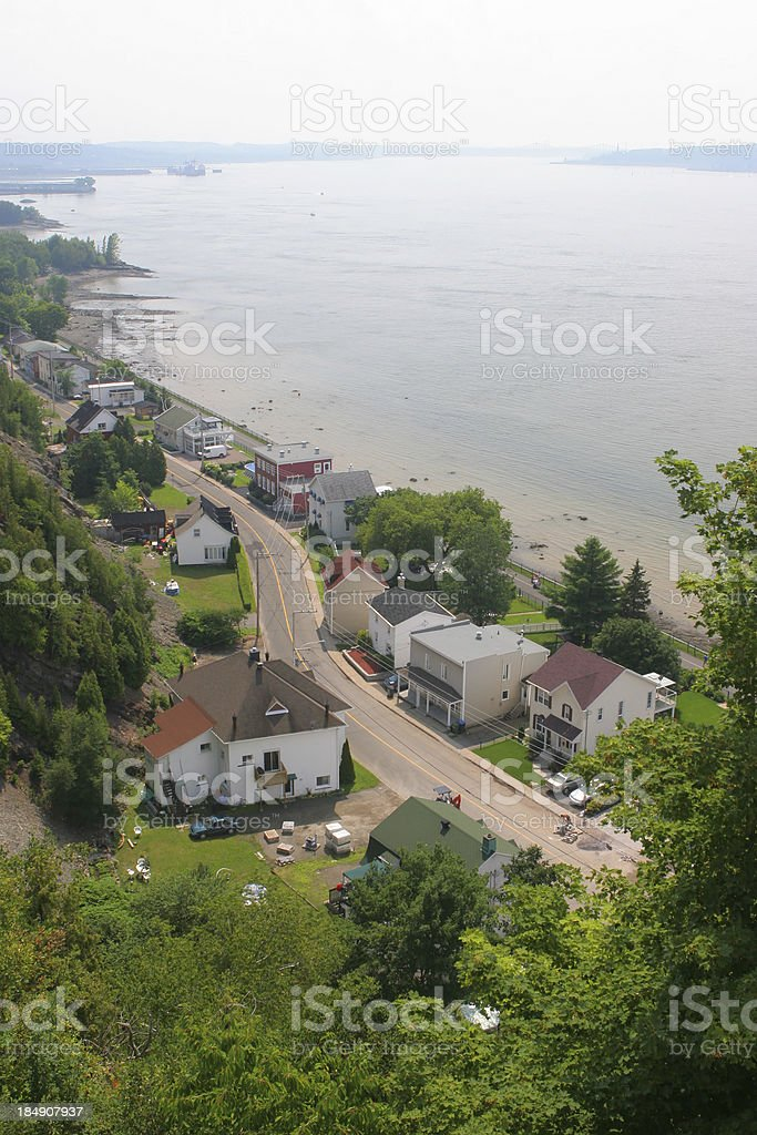 St-Laurent river and the old Levis city royalty-free stock photo