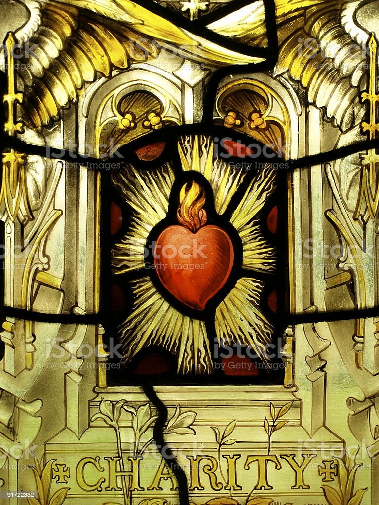 St.Lawrence Church ,Jersey,stain glass royalty-free stock photo
