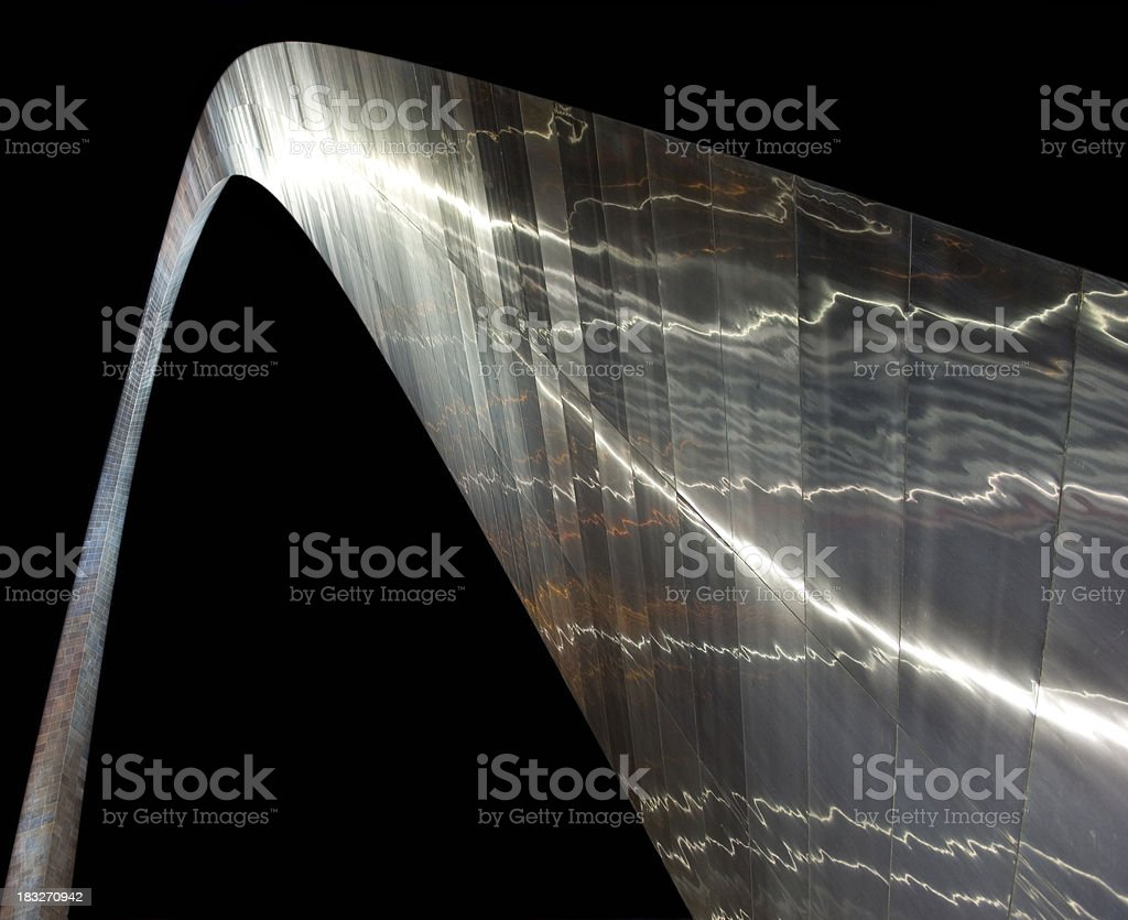 St.Louis Arch At Night stock photo