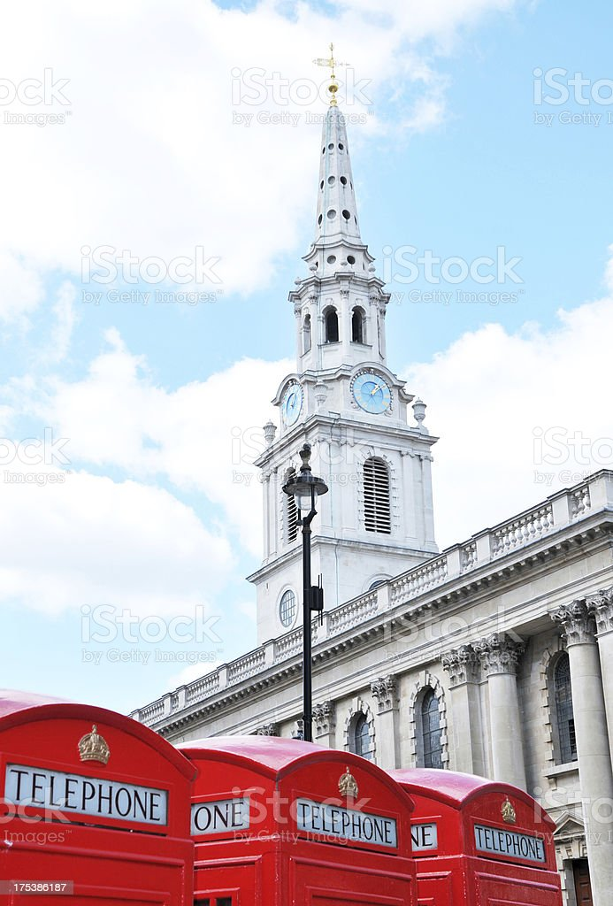 St.Martin In The Fields Church, London royalty-free stock photo