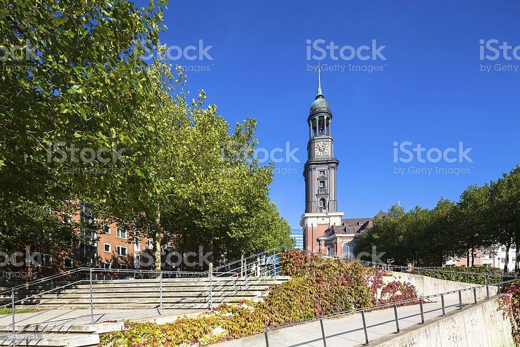 St.Michaeliskirche in Hamburg stock photo