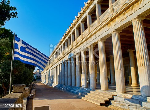 istock Stoa of Attalos at the Ancient Agora of Athens. Greece. 1027081876