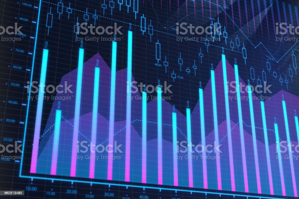 Conceito de estoque, análise e comércio - Foto de stock de Analisando royalty-free