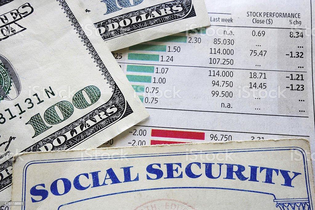stock and soc sec stock photo