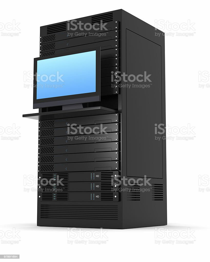 Stock art of high-performance server rack royalty-free stock photo