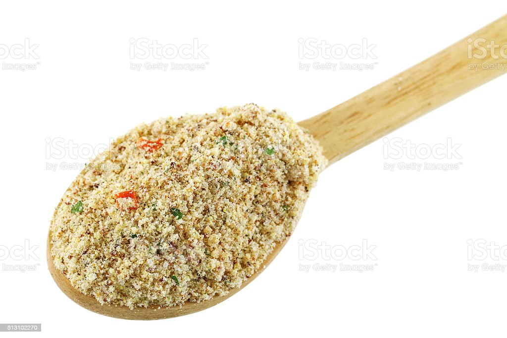 Stock booster powder, Beef flavored seasoning with dried vegetable stock photo