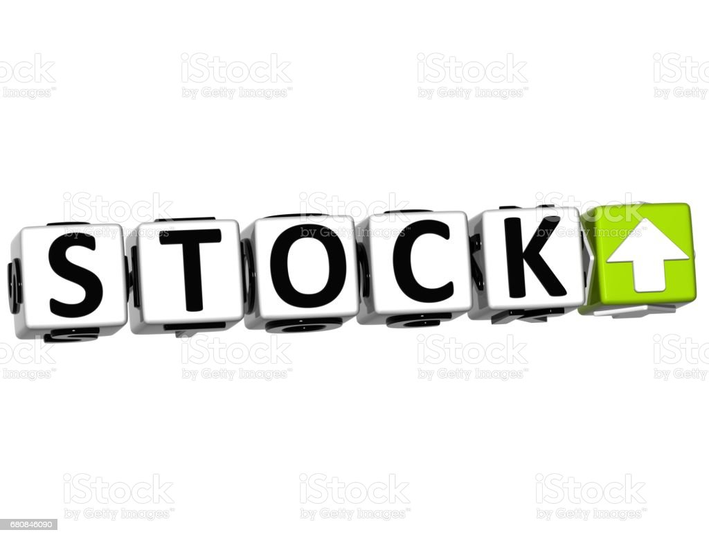 3D Stock Button Click Here Block Text royalty-free stock photo